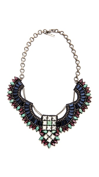 Deepa Gurnani Crystal and Stone Statement Necklace