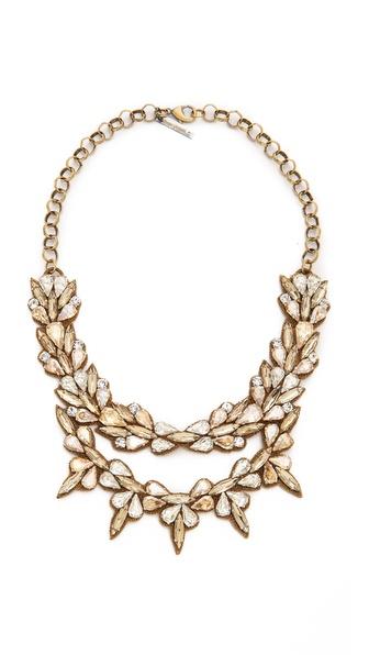 Deepa Gurnani Crystal Layered Necklace