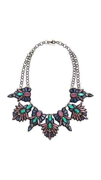 Deepa Gurnani Stone and Crystal Necklace