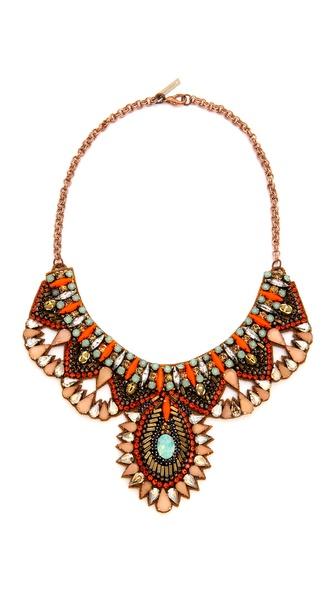 Deepa Gurnani Colorful Crystal Necklace