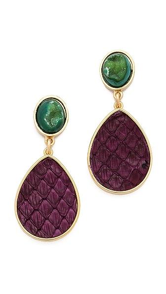 Dara Ettinger Alba Snake & Agate Earrings