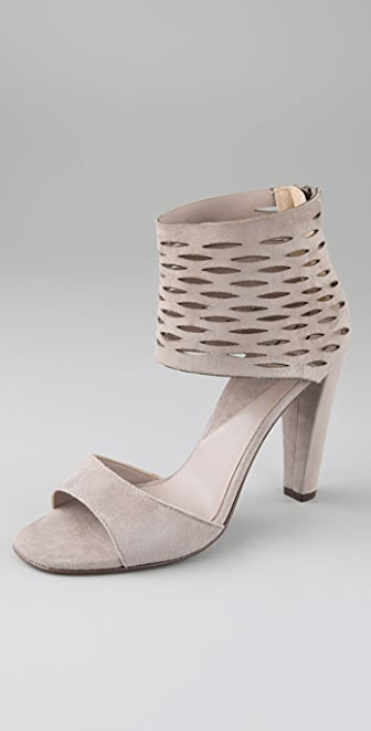 Diane von Furstenberg Aegean Suede Sandals with Slashed Cuff