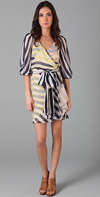 Diane von Furstenberg Striped Ignacia Wrap Dress