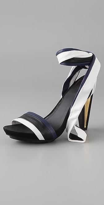 Diane von Furstenberg Vanity Ankle Tie Sandals