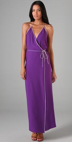 Diane von Furstenberg Haydee Long Wrap Dress