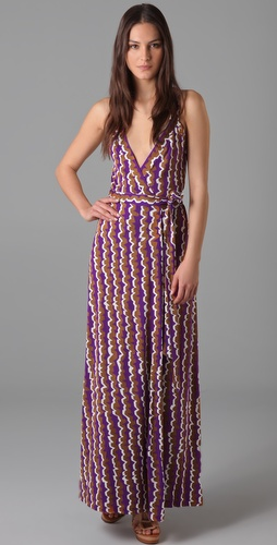 Dvf Maxi Wrap Dress Samson Maxi Wrap Dress at