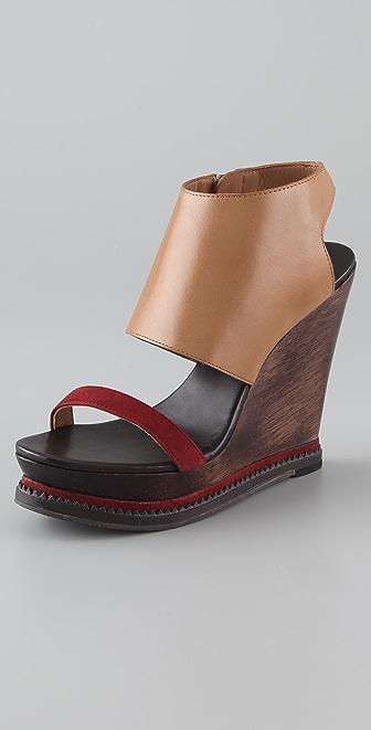 Diane von Furstenberg Olivia Wedge Sandals
