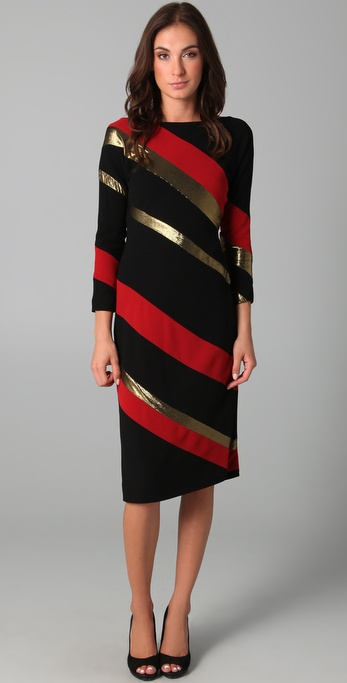Diane von Furstenberg Savannah Long Sleeve Midi Dress