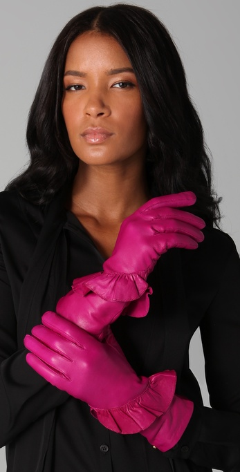 Diane von Furstenberg Clarissa Leather Gloves