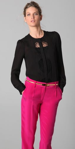 Diane von Furstenberg Billow Lace Blouse