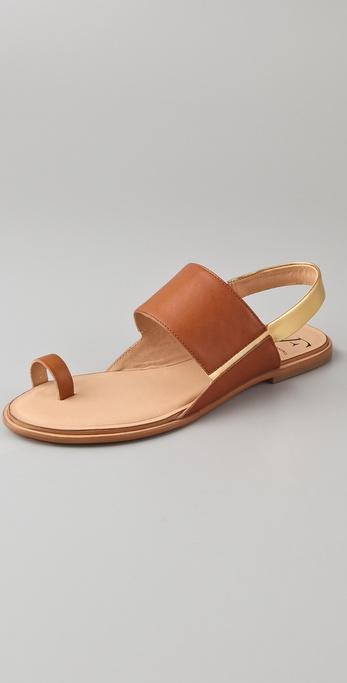 Diane von Furstenberg Klee Toe Ring Flat Sandals