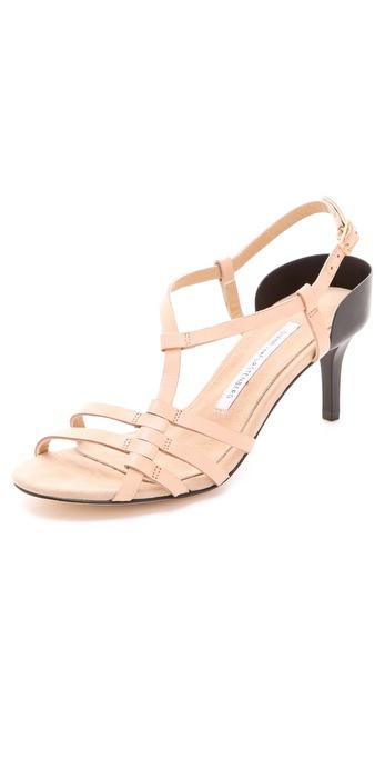 Diane von Furstenberg Binta Mid Heel Sandals