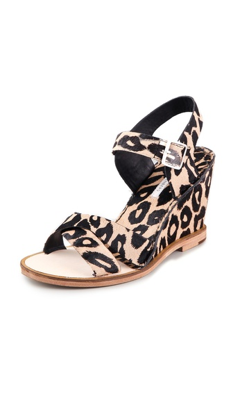 Diane von Furstenberg Dagga Haircalf Wedge Sandals