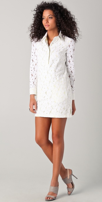 Diane von Furstenberg Leeandra Flower Lace Dress