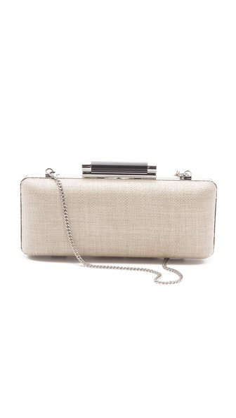 Diane von Furstenberg Tonda Raffia Clutch