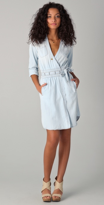 Diane von Furstenberg DVF Loves Current / Elliott Denim Wrap Dress
