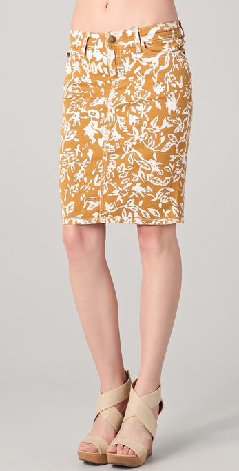 Diane von Furstenberg DVF Loves Current / Elliott Skinny Denim Skirt
