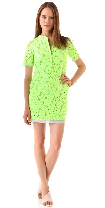 Diane von Furstenberg Warner Flower Lace Dress