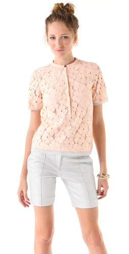 Diane von Furstenberg Warner Flower Lace Top