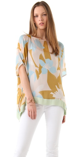 Diane von Furstenberg New Hanky Band Blouse