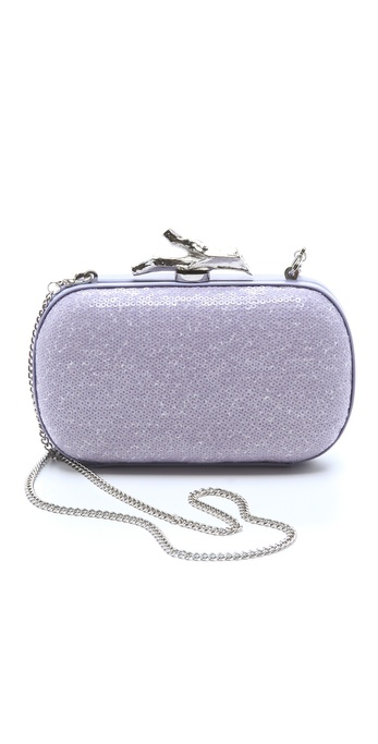 Diane von Furstenberg Lytton Small Sequined Clutch