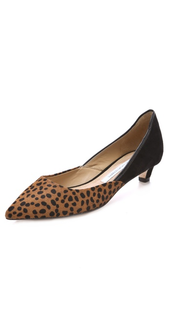 Diane von Furstenberg Alice Kitten Heel Haircalf Pumps