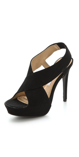 Diane von Furstenberg Zia Suede Platform Sandals