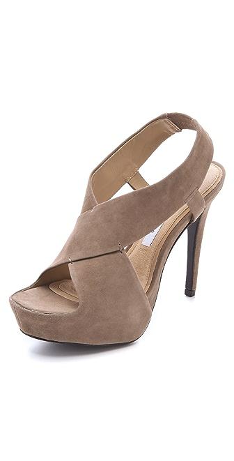 Diane von Furstenberg Zia Suede Platform Sandals