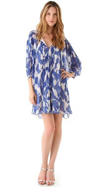Diane von Furstenberg New Fleurette Print Dress