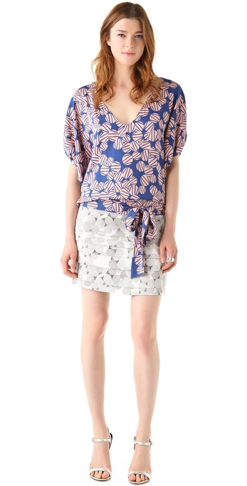Diane von Furstenberg New Edna Print Dress