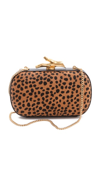 Diane von Furstenberg Lytton Spotted Haircalf Clutch
