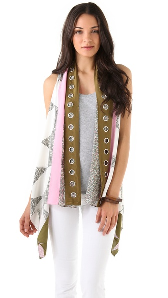 Diane von Furstenberg Scarf Vest