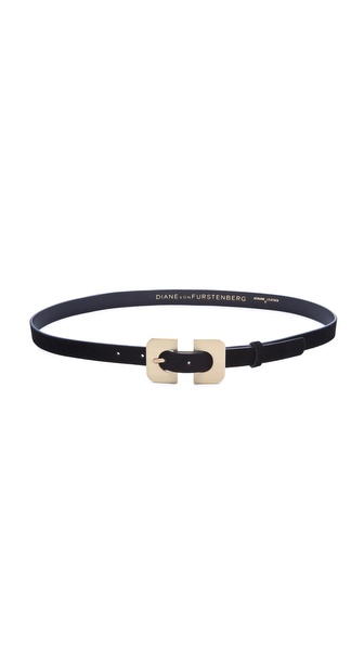 Diane von Furstenberg Chain Link Buckle Belt