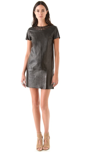 Diane von Furstenberg Yvanna Leather Dress