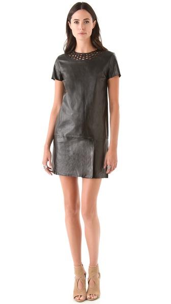 Diane von Furstenberg Yvanna Leather Dress