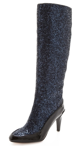 Diane von Furstenberg Dalad Glitter Boots