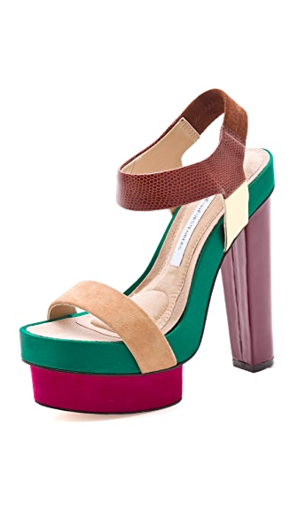 Diane von Furstenberg Toy Colorblock Sandals
