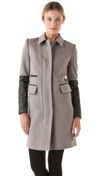 Diane von Furstenberg Sterling Wool Coat