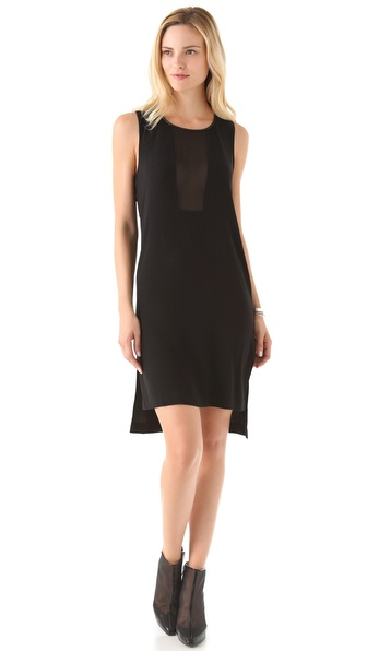 Diane von Furstenberg Meena Dress with Chiffon Panel