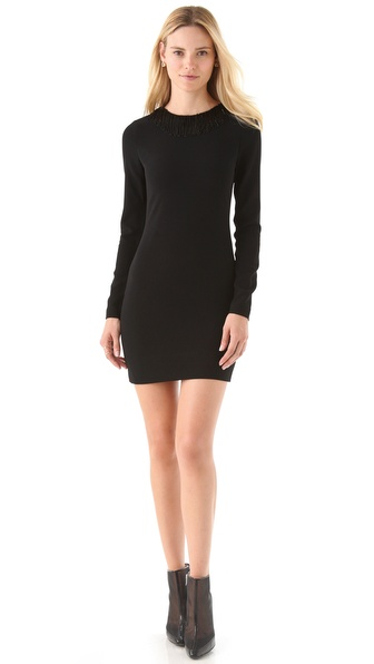 Diane von Furstenberg Margherita Beaded Dress with Open Back