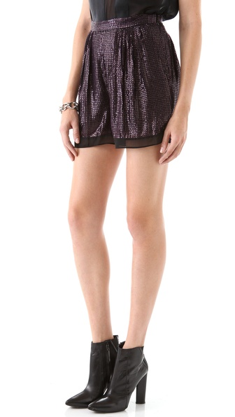 evening shorts sequin