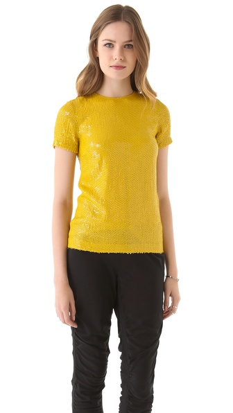 Diane von Furstenberg Catalina Couture Sequin Tee