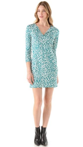 Diane von Furstenberg Long Sleeve Reina Dress