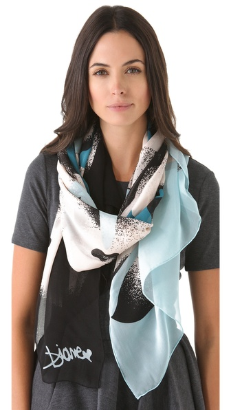 Diane von Furstenberg Washed Chiffon Scarf