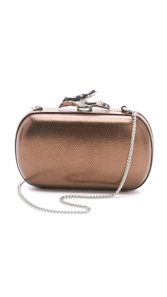 Diane von Furstenberg Lytton Small Metallic Clutch