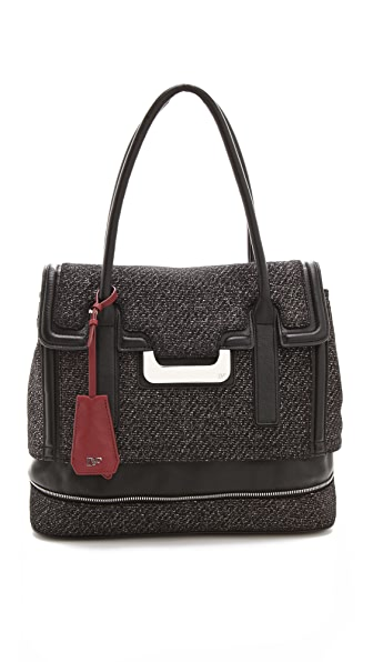 Diane von Furstenberg Harper Laurel Metallic Tweed Bag