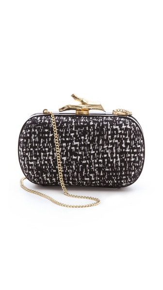 Diane von Furstenberg Lytton Tweed Clutch