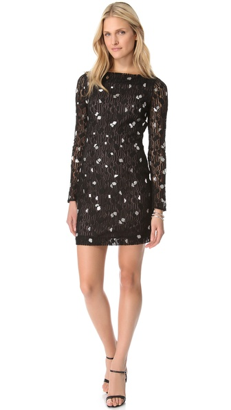 Diane von Furstenberg New Zarita Silver Bubbles Dress