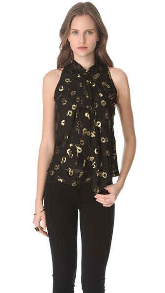 Diane von Furstenberg Morana Top Gem Jacquard