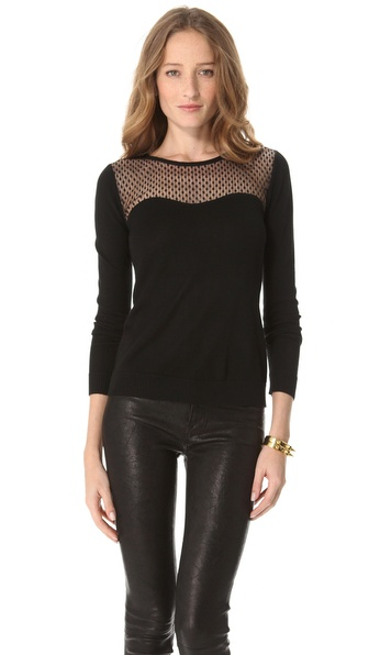 Diane von Furstenberg Rosita Top Lace